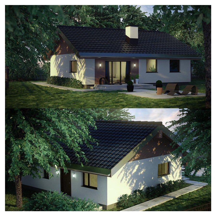 wizualizacja 3 dom jednorodzinny