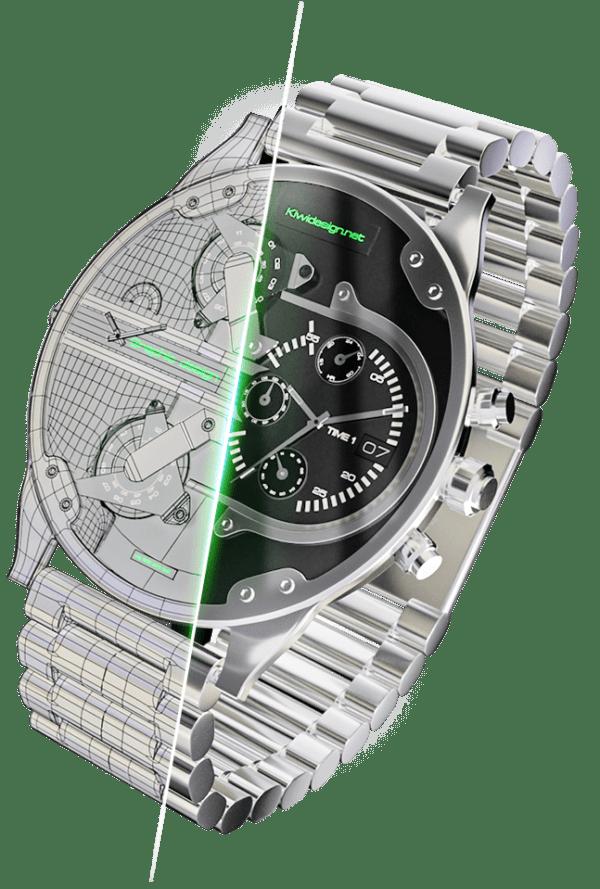 zegarek 3D
