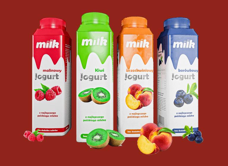 Projekt logo milk